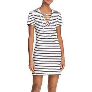 Bardot Lace-up Striped Dress - Never Worn, size XS